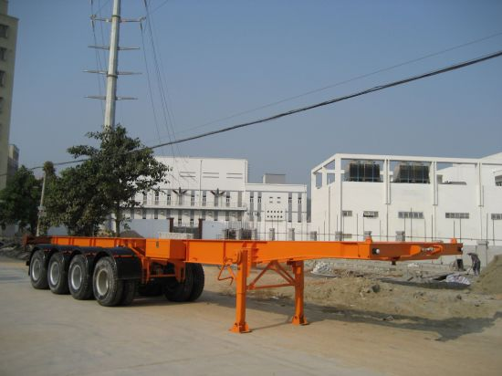 40feet Four Axles Skeletal Container Trailer pictures & photos
