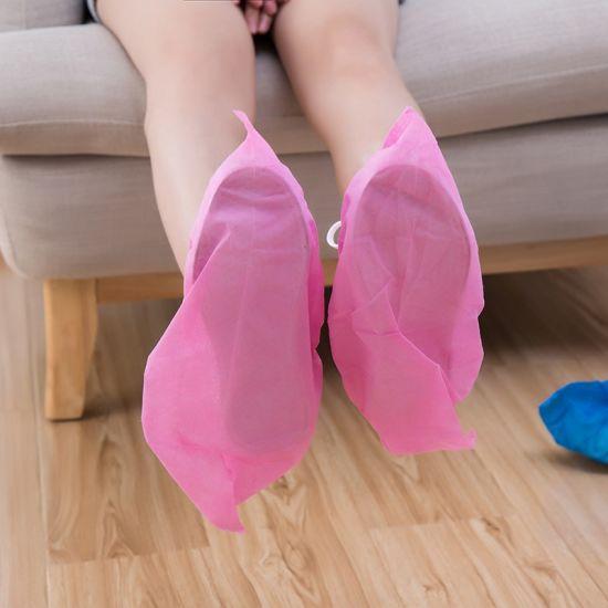 Wholesale Disposable Non Woven Boot Cover Custom Non Slip Fabric Shoe Cover