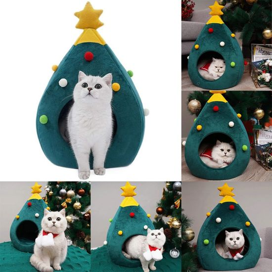 Treehouse Christmas 2021 Hours 2021 New Year Wholesale Price Cat Bed Dog Pet Cave Christmas Tree House Product China Pet Products And Pet Supply Price Made In China Com