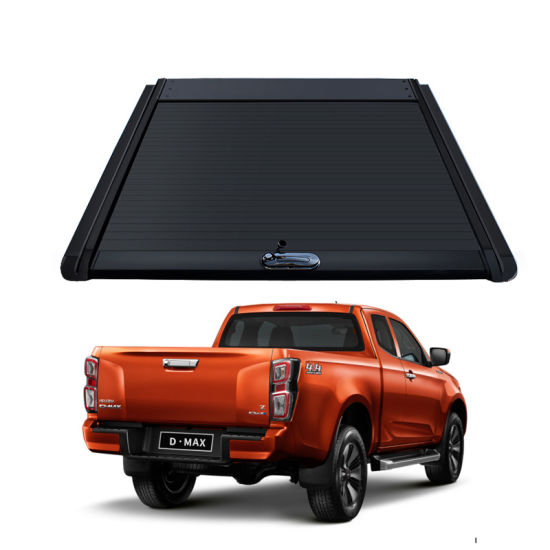 Aluminum Hard Retractable Manual Pickup Bed Cover Tonneau Cover for Ford Ranger T6 5.5FT Aluminium Alloy Roller Lid Shutter Cover