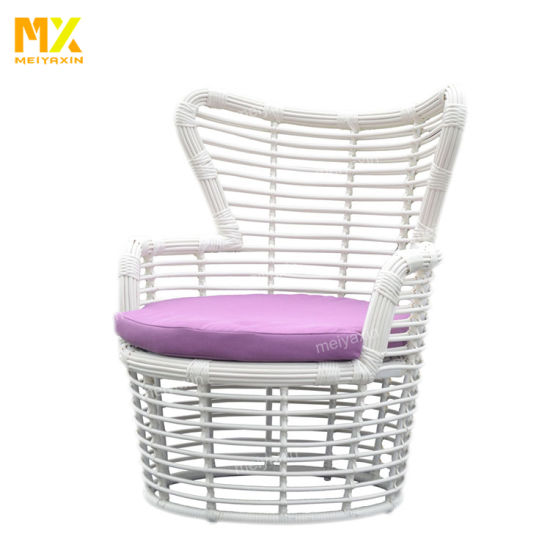 Meiyaxin Modern Designs White Wicker Armchair Garden Chair (accept customized)