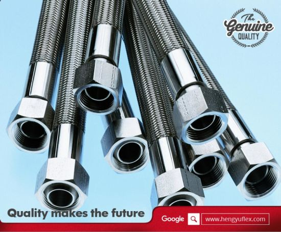PTFE Teflon Flexible Hose with Ss304/306 Stainless Steel Braid