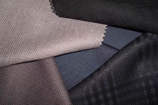 Wool Polyester Men′s Suit Fabric pictures & photos