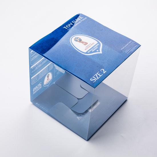 Custom Printed Transparent Foldable Gift PVC Plastic Box