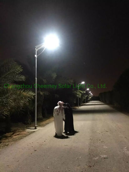 60W Solar Street Lamp LED Road Light Waterproof with LiFePO4 Lithium Battery