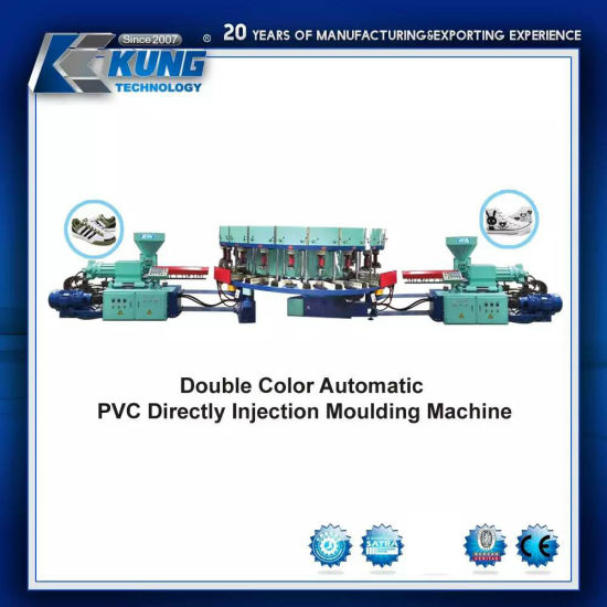 Double Color Automatic PVC Directly Injection Moulding Machine