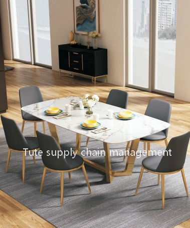 2020 New Luxury Dining Room Furniture Modern Dining Table 6 8chairs China Dining Table Table Made In China Com