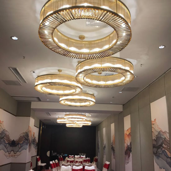 Elegance Luxury Hotel Lobby Project Crystal Ceiling Chandelier for Conference Room