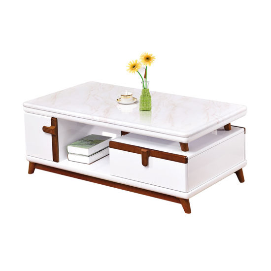 Marble Top Small Rectangular Tea Table