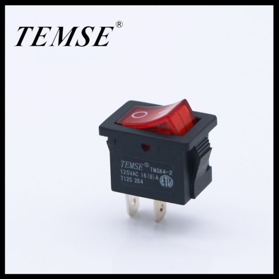 Temse 2 Pin Spst with Lamp Mini Boat Rocker Switch