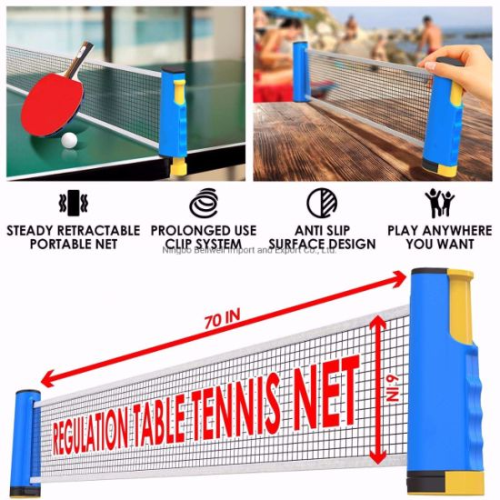 Ping Pong Paddle Set Table Tennis with Paddle Retractable Net, Balls, and Posts