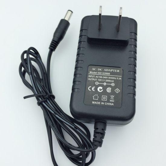 USA Plug Ce CB SAA TUV Wall Mount 12V1a 12W AC/DC Switching Power Adaptor