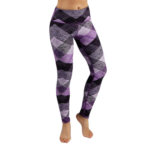Women Fashion Tight and Comfortable Sleeveless Opaque Printed Sports Yoga Pants