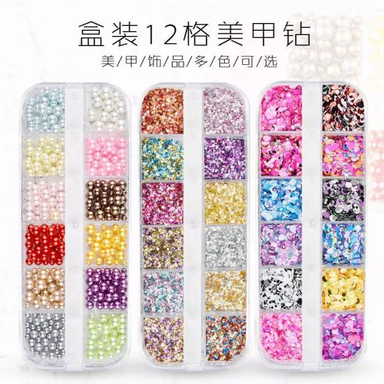 Glitter Sequins Multi-Color Multi-Size Nail Rhinestones Nail Art Decorations pictures & photos