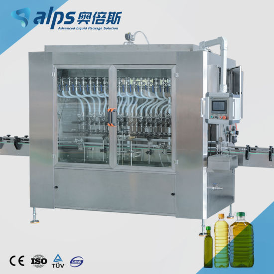 Automatic Linear Servo Piston Type Pet Glass Bottle Sunflower Vegetable Edible Cooking Oil Engine Motor Lubricating Oil Detergent Filling Packing Machine