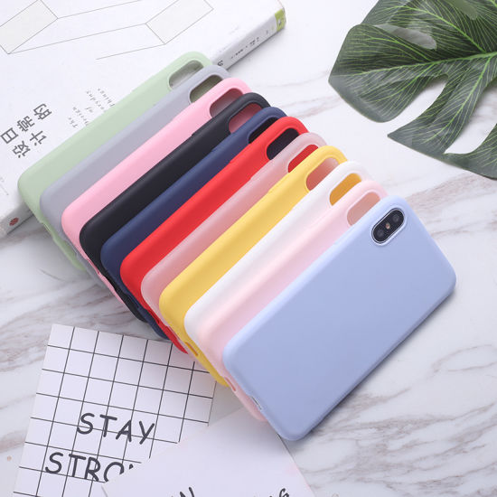 Wholesale Cheap Solid-Color TPU Phone Cover pictures & photos
