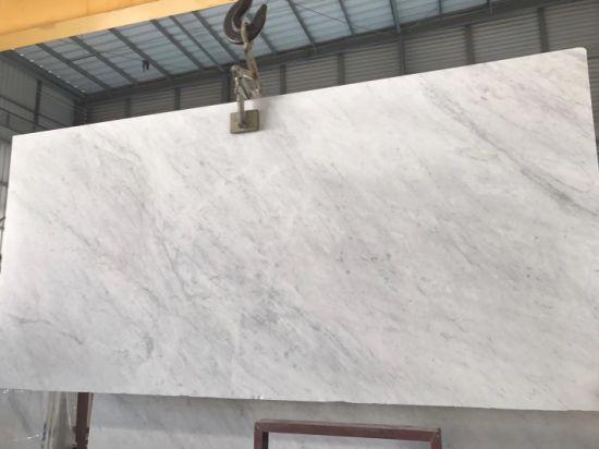 Narural Polished Carrara White Marble Stone for Kitchen/Bathroom/Wall/Flooring, Marble Slab