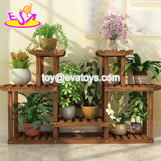 China Custom Wooden Movable Outdoor, Outdoor Plant Shelves