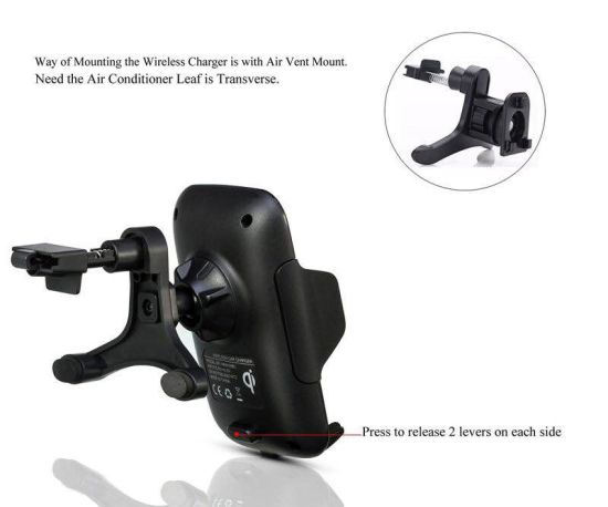 Fast Air Vent Car Mount Phone Holder Wireless Charger for Samsung iPhone pictures & photos