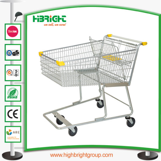 Zinc Plated Supermarkt Shopping Trolley Cart for Sale pictures & photos