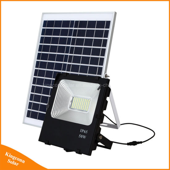 2017 New 50W Solar Panel Flood Light Rechargeable LED Outdoor Garden Street Lawn  Security Lamp