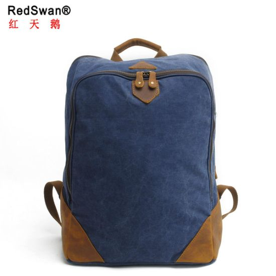 40b763da72 Washed Canvas Laptop Backpack Sport Comping Fashion Backpack Bag (RS2202-P)