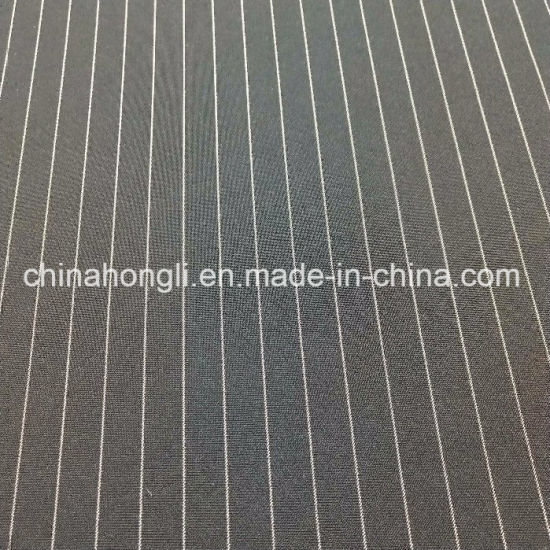 Black Ground with White DOT Stripe Polyester Spandex Fabric for Uniform