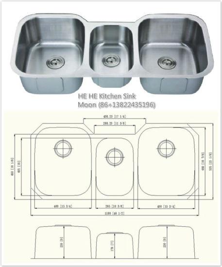 Undermount Sink Stainless Steel Triple