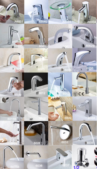 Touch Less Automatic Sensor Faucet Chrome Plated (FDS-6022) pictures & photos