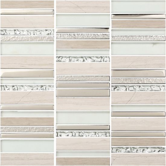 Beautiful Glass Mosaic Tile in Foshan (AJR5068-5) pictures & photos