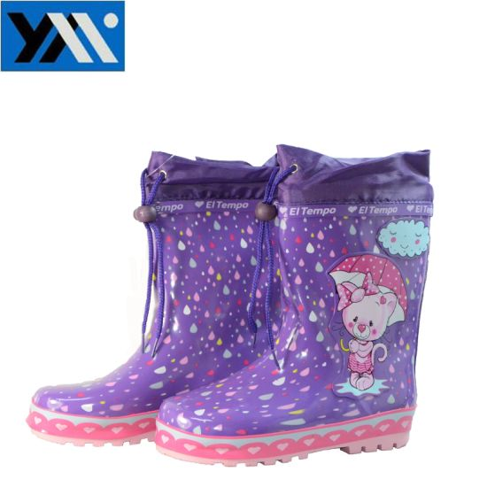 china 100 waterproof colorful kids rubber rain boots with cartoon