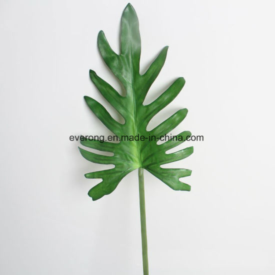 china silk coated monstera leaves artificial monstera leaves