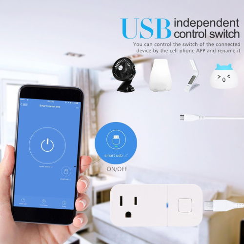 Wireless WiFi Smart Plug Outlet with Built in USB Port pictures & photos