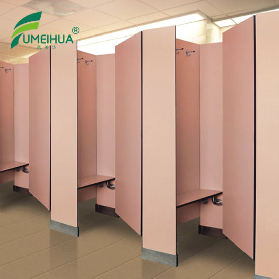 China Fmh Gym Changing Room Toilet Cubicle with Sitting Bench/ HPL ...
