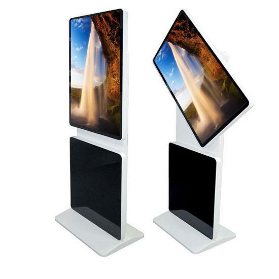 Indoor Floor Stand Rotating Totem Monitor Digital Signage Display