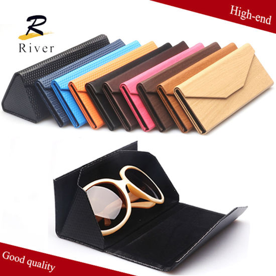 Foldable Leather Glasses Eyeglasses Case Handmade Work