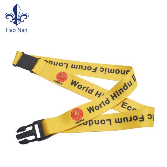 Merchandising Brand Custom Neck Polyester Fiber Lanyards ID Card Holder