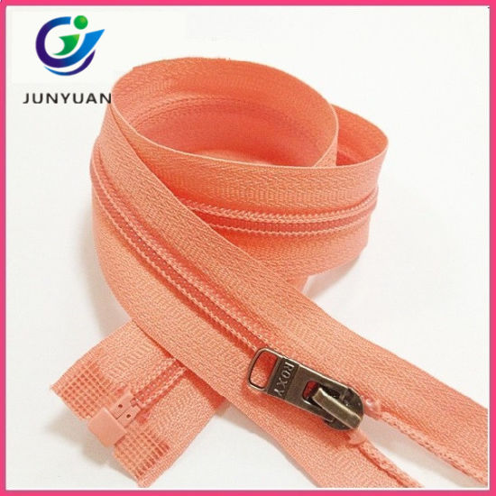 Chain Plastic Metal Nylon Waterproof Brass Invisibl Resin Open End Zipper From China Factory