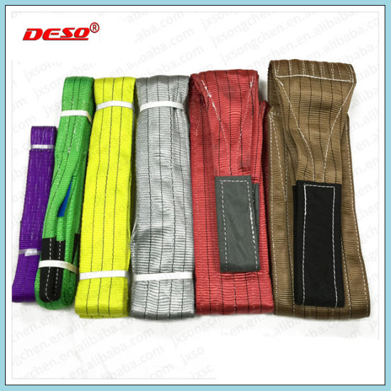 3 Ton Flat Webbing Sling with Eye pictures & photos