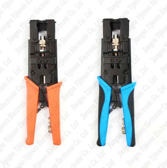 Connector Compression Tool for Coaxial RG6 RG59 F BNC RCA Crimper coax cable
