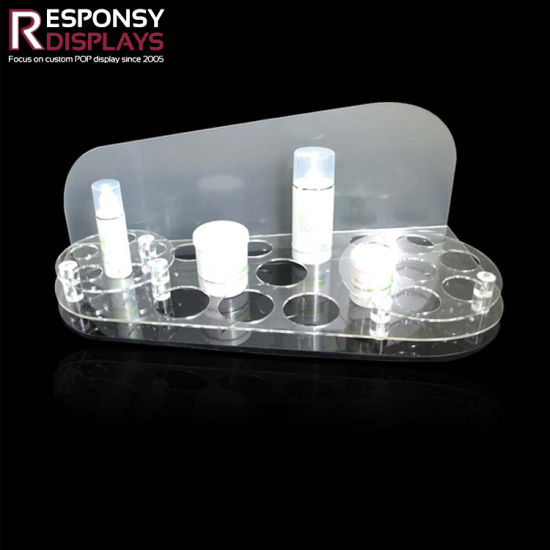 Acrylic Plate Cosmetic Container Whitening Cream Display Counter pictures & photos