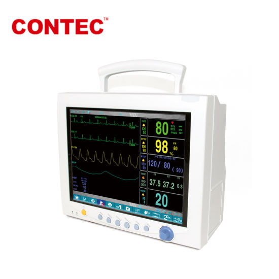Contec Cms7000plus ECG, Resp, SpO2, Pr, NIBP and Temp Adult Multi-Parameter, Pediatric and Neonate 12.1′′ TFT Color LCD Patient Monitor pictures & photos