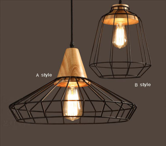 Special Outdoor Antique Metal Hanging Light with Wood for Restaurant pictures & photos