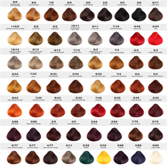 China OEM/OEM Salon Brands Non Allergic 62 Color Shades Hair Color ...