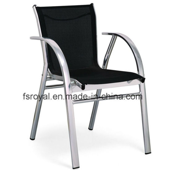 Patio Aluminum Outdoor Restaurant Home Hotel Office Garden Glass Customized Textilene Dining Chair