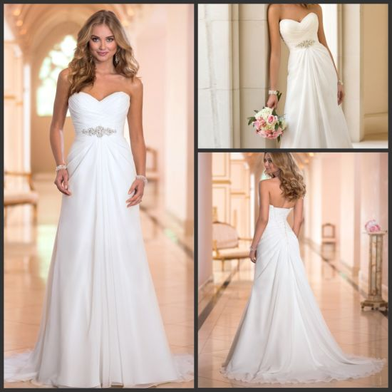 1780b0d39caf Sale Chiffon Wedding Gowns Strapless Empire jewelry Bridal Dresses Z1036  pictures & photos