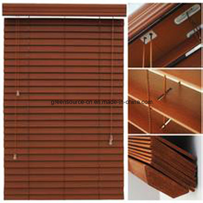 "2"" PVC Venetian Blind (Faux wood venetian blind) pictures & photos"