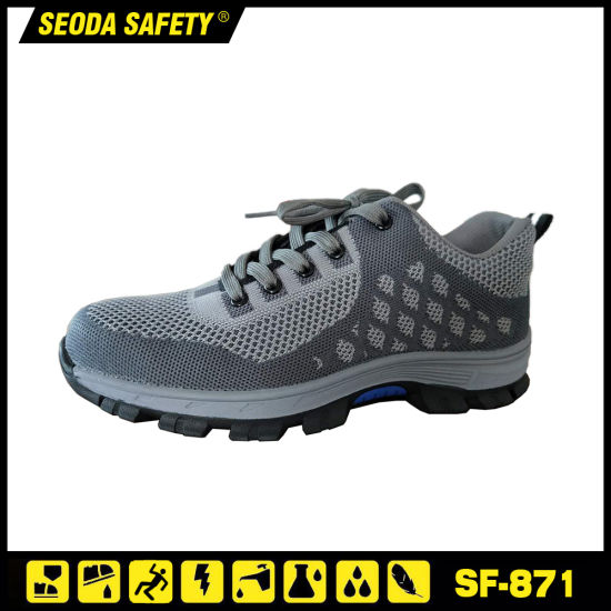 Flyknit Fabric Safety Shoe with Rubber Outsole (SF-871)
