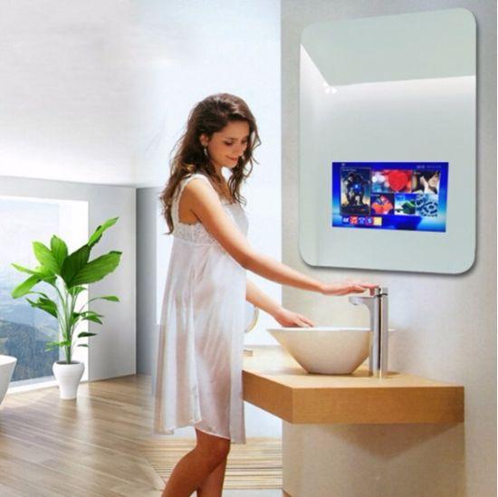 China 19 Inch Bathroom Advertising Magic Mirror Frame Smart Mirror ...