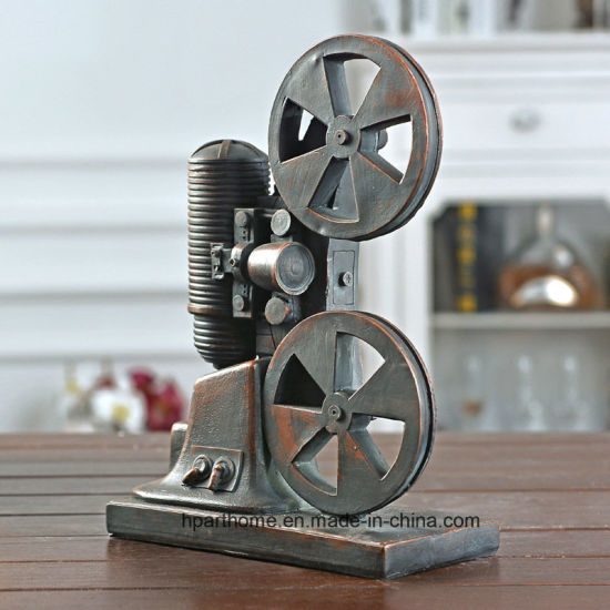 Shabby-Chic Industrial Style Polyresin Movie Projector Showcase Decoration